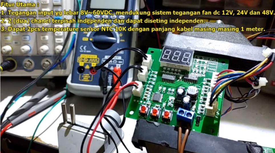 2 Channel DC Fan Controller (2x4LFAN CON V10)