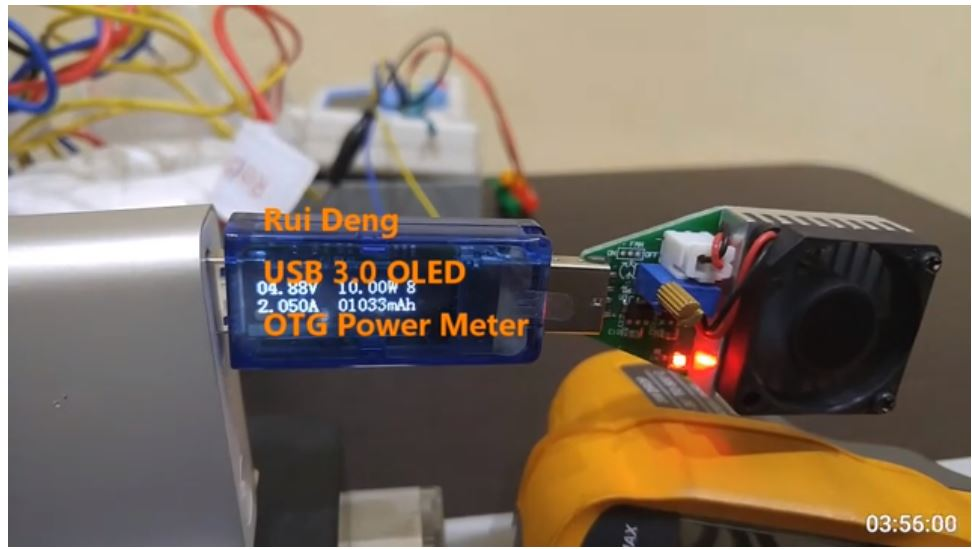 RD (Rui Deng) Product fort Power Bank Battery Autonomi Test